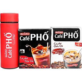 Combo Caphe Phố Sữa Đá 240g+ Caphe Phố Đen Đá MACCOFFEE 160g - Tặng Bình Giữ Nhiệt Cao Cấp Màu Ngẫu Nhiên