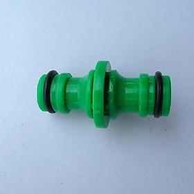 Khớp nối ống nước tưới vườn - Khớp nối 2 đầu ống nước tiện lợi (màu xanh lá)
