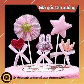 Set cắm tai thỏ trang trí bánh phụ kiện sinh nhật - Phụ kiện trang trí bánh kem bánh sinh nhật