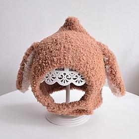 Mũ len lông cừu tai thỏ siêu ấm áp cho bé yêu