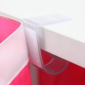 Set 12 Kẹp Giữ Vải Lót Chân Bàn Bằng Nhựa Tiện Lợi
