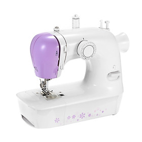 Mini Sewing Machine with 12 Stitches Portable Multi-function Electric Sewing Machine 2-Speed Reverse Sewing Foot Control