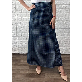 Váy chống nắng loại xẻ 2 tà chất liệu Kaki hoặc Đũi - Nhiều Hoa Văn