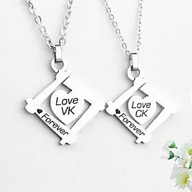 Dây chuyền cặp đôi tình yêu VK C.K THỜI TRANG