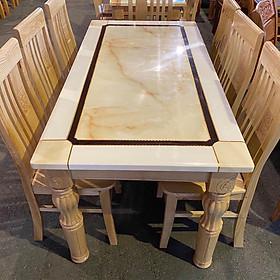 Bộ Bàn ăn gỗ sồi mặt đá  Granite 6 ghế hàng chuẩn xuất khẩu