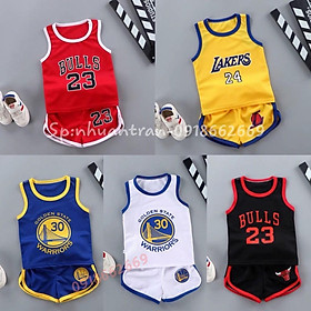 Quần áo trẻ em,combo 5 bộ cộc tay bé trai sét bóng rổ size 3-14kg