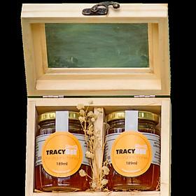 Hộp đôi  quà tặng thực phẩm chức năng mật ong tracybee hoa cafe 189 ml