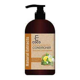 Dầu xả thảo dược dưỡng tóc Ecoco với chiết xuất sả chanh tự nhiên 180g