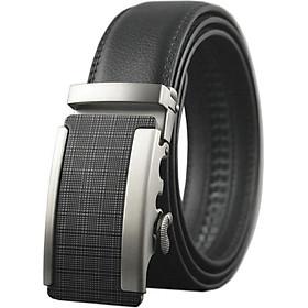 Thắt lưng nam cao cấp AT Leather P112 - Đen
