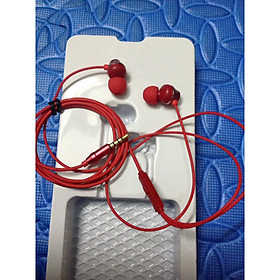 Tai nghe nhét tai dùng cho iPhone, SamSung, OPPO, Xiaomi, Huawei, Nokia dây màu đỏ nữ tính sành điệu âm thanh trung thực độ bền cao Hàng Nhập Khẩu