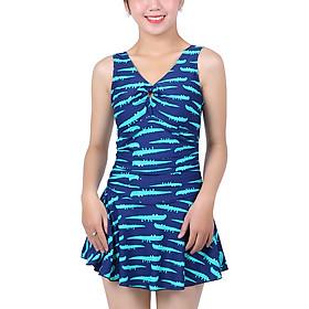 Bikini 1 Mảnh Monica Họa Tiết Cá Sấu BIT 3007 - Xanh (Free Size)
