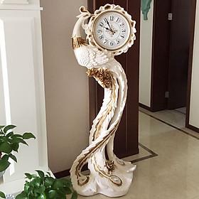 Đồng hồ cây khổng tước cao 1m7 phong cách tân cổ điển vừa sử dụng vừa trang trí