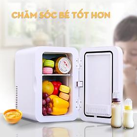 Tủ lạnh mini 2 chiều làm lạnh không làm đá dung tích 22 lít để trên xe hơi hoặc gia đình nhỏ gọn rễ di chuyển - Hàng chính hãng