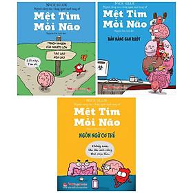 COMBO 3 cuốn sách : Mệt Tim Mỏi não ( tặng kèm BOOKMARK HAPPY LIFE )