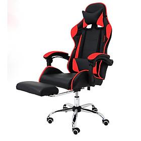 Ghế chơi game cao cấp chân xoay nghiêng ngả 360 độ, ngã 155 độ, có gác chân GX015-G