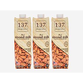 Combo 3 hộp sữa hạnh nhân không đường 1L 137 Degrees Thái Lan