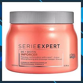 Dầu hấp ủ tóc L'oreal Serie Expert B6 + Biotin Inforcer chắc khỏe ngăn gãy rụng Strengthening Anti-breakage Masque 500ml