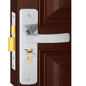 Ổ khoá cửa tay gạt Việt Tiệp 04509 hợp kim màu trắng dành cho các loại cửa thông phòng