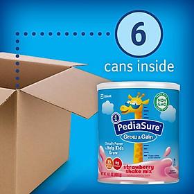Sữa bột Pediasure Grow and Gain Strawberry Shake Mix 400gr nhập Mỹ - Mẫu mới-1