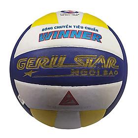 Bóng chuyền dán Gerustar Số 5 - Winner (Tặng Băng dán thể thao + Kim bơm + Lưới đựng)
