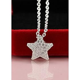 Dây chuyền bạc nữ mặt ngôi sao đính đá