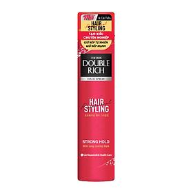 Keo xịt tạo kiểu tóc Double Rich Strong Hold giúp giữ nếp tóc dài lâu và cung cấp dưỡng chát cho tóc 170ml