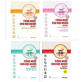 Combo Sách Học Tiếng Nhật Hay Không Thể Bỏ Qua: Tiếng Nhật Cho Mọi Người - Trình Độ Sơ Cấp 1 ( Tổng Hợp Các Bài Tập Chủ Điểm +  Hán Tự +  Bản Dịch Và Giải Thích Ngữ Pháp - Tiếng Việt +  Bản Tiếng Nhật)
