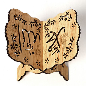 Wooden Lesser Bairam Book Stand Holder for Bible