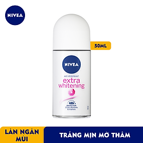 Lăn Ngăn Mùi NIVEA Extra Whitening Trắng Mịn Mờ Vết Thâm (50ml) - 83747