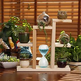Kệ Để Bàn trang trí Hoa  cây cảnh mini Giá Đỡ Đứng  gỗ thông  kích thước 40x38x12 cm
