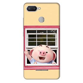 Ốp lưng nhựa cứng nhám dành cho Xiaomi Redmi 6 in hình Heo Con Chào Ngày Mới