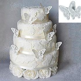 Hình đại diện sản phẩm 2 Pcs Butterfly Cake Fondant Decorating Sugarcraft Cookie Cutters Tool Mold