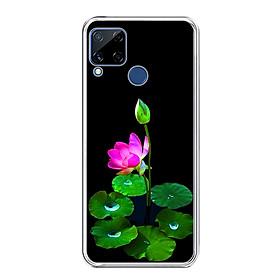 Ốp lưng dẻo cho điện thoại Realme C15 - 0296 LOTUS02 - Hàng Chính Hãng