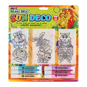 Bộ Bút Vẽ Trang Trí Amos Glass Deco Sun Deco II SD10B6-D1 (400g)