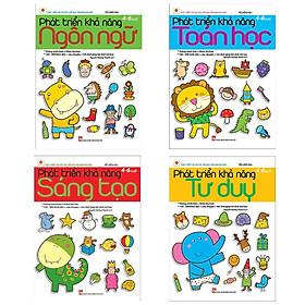 Combo Bộ Sách Phát Triển Trí Tuệ Của Trẻ Qua Trò Chơi Dán Hình: Phát Triển Khả Năng Ngôn Ngữ + Phát Triển Khả Năng Toán Học + Phát Triển Khả Năng Sáng Tạo + Phát Triển Khả Năng Tư Duy (Dành Cho Trẻ Từ 4-6 Tuổi / Tặng Kèm Bookmark Green Life)