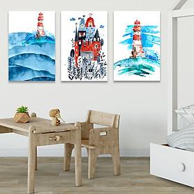 Set 3 tranh Canvas Treo phòng bé 40x60 cm