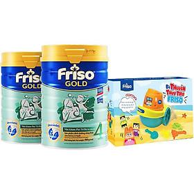 Bộ 2 Lon Sữa Bột Friso Gold 4 Cho Trẻ Từ 2-4 Tuổi 900g + Tặng bộ đồ chơi lắp ráp