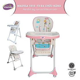 Ghế ngồi ăn dặm điều chỉnh độ cao, điều chỉnh ngả lưng có bánh xe Mastela 1015 cho bé 6 tháng đến 5 tuổi chuẩn ASTM Mỹ - tặng áo yếm ăn dặm chống nước
