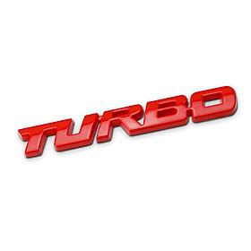 Chữ TURBO dán trang trí ô tô (Màu Đỏ)