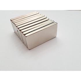 Nam châm viên trắng đất hiếm 50x25x5mm (Combo 5 viên)