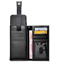 Bao da dây rút kiêm ví cho điện thoại từ 4-5.5inch - DT23A
