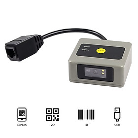 Aibecy 1D/2D/QR Embedded Barcode Scanner Self-Induction Module Scanner USB Connection Compatible with Linux Windows