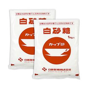 COMBO 2 gói Đường cát trắng Nissin Cup 1kg Nhật Bản