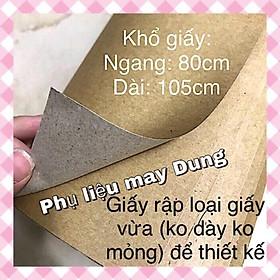 Giấy rập thiết kế may vá loại giấy cỡ vừa: 1 cuộn- 5 tờ