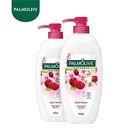 Bộ 2 Sữa tắm Palmolive sảng khoái dịu êm 100% chiết xuất từ hoa anh đào 500g