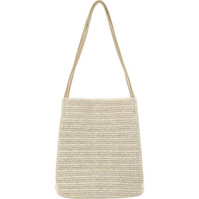 IELGY Straw hand bag Korean version of the beach large capacity simple woven shoulder bucket bag