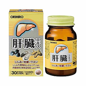 Viên uống bổ gan Orihiro Nhật Bản 60 viên - Nội địa Nhật Bản