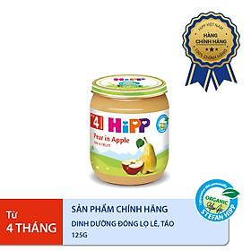 Dinh dưỡng đóng lọ ăn dặm Lê Táo HiPP Organic 125g