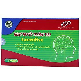 Hoạt huyết dưỡng não GreenFive - Tăng cường tuần hoàn não, Giảm rối loạn tiền đình, giảm di chứng sau tai biến mạch máu não do tắc mạch - Hộp 3 vỉ x 10 viên. SP đạt chuẩn GMP – WHO.