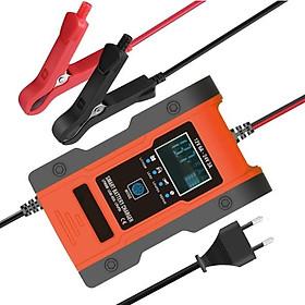 Sạc bình ắc quy 12V 24V 6-150Ah sạc pin lithium thông minh tự ngắt khi đầy có chức năng khử sunfat phục hồi ắc quy sạc bình ắc quy ô tô